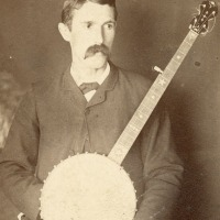 Man with banjo