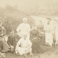 Fabyan House staff in the White Mountains (1880)