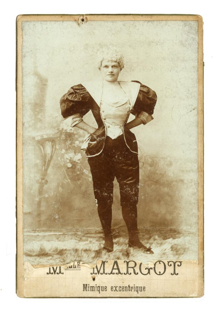 Madmoiselle Margot Mimique Excentrique Cabinet Card Found in Deinze