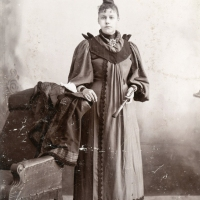 Young woman with brush in Emporia, Kansas