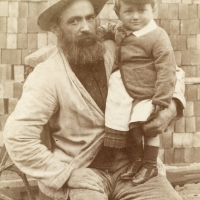 Brickmaker and son in Southborough, Kent