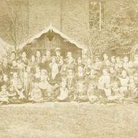 Diverse group of schoolgirls in Victorian London
