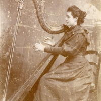 Jeanne Fouillon and her beautiful harp