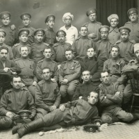 Ethnically diverse group of soldiers in Russia (WWI)
