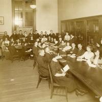 Citizenship aid class, Tompkins Square, New York (1921)