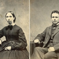Couple in Windsor, Vermont, shortly before the end of the Civil War