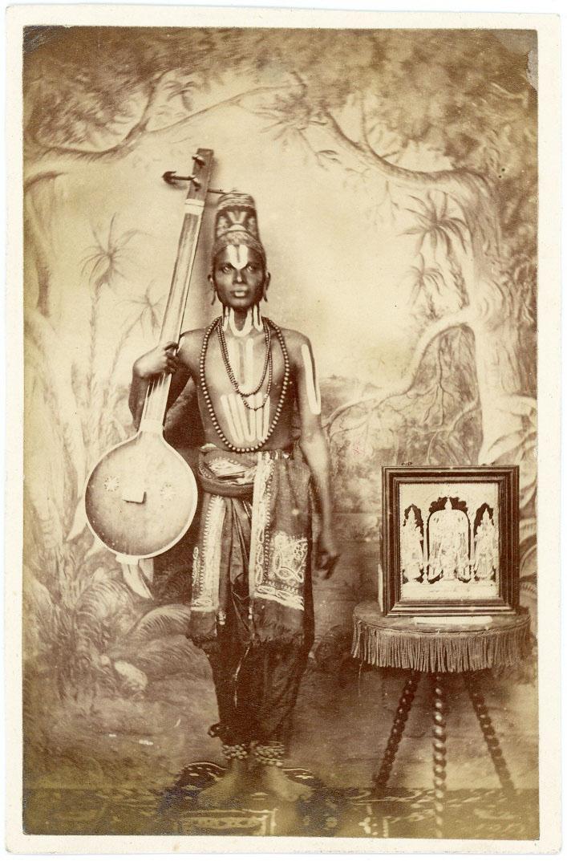 Musician with tambura 2