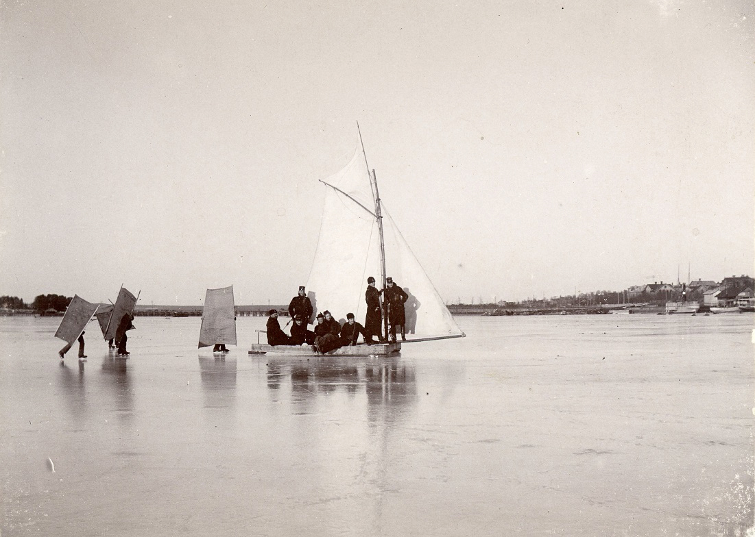 When I Saw The Carte De Visite Above Wondered If It Was A Real Scene Or An Elaborate Joke Could They Really Have Sailed On Ice
