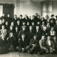 Meeting of textile co-op representatives, USSR (1933)