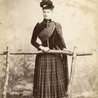 Kate Sharp in Rothesay, Isle of Bute, Scotland (1890)
