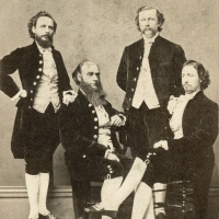 Men in period attire in Hartford, Connecticut