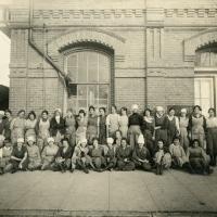 Women outside a factory