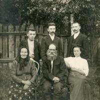 Russian family at their dacha