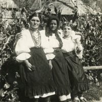 Romanian women in Sunday dress