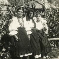 Romanian women in Sunday dress