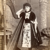 Young harpist in New Bedford