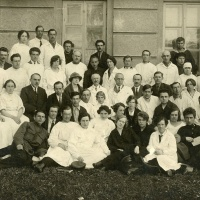 Hospital workers in Moscow (1925)