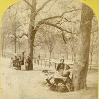 Apple seller on Boston Common by Edward Allen