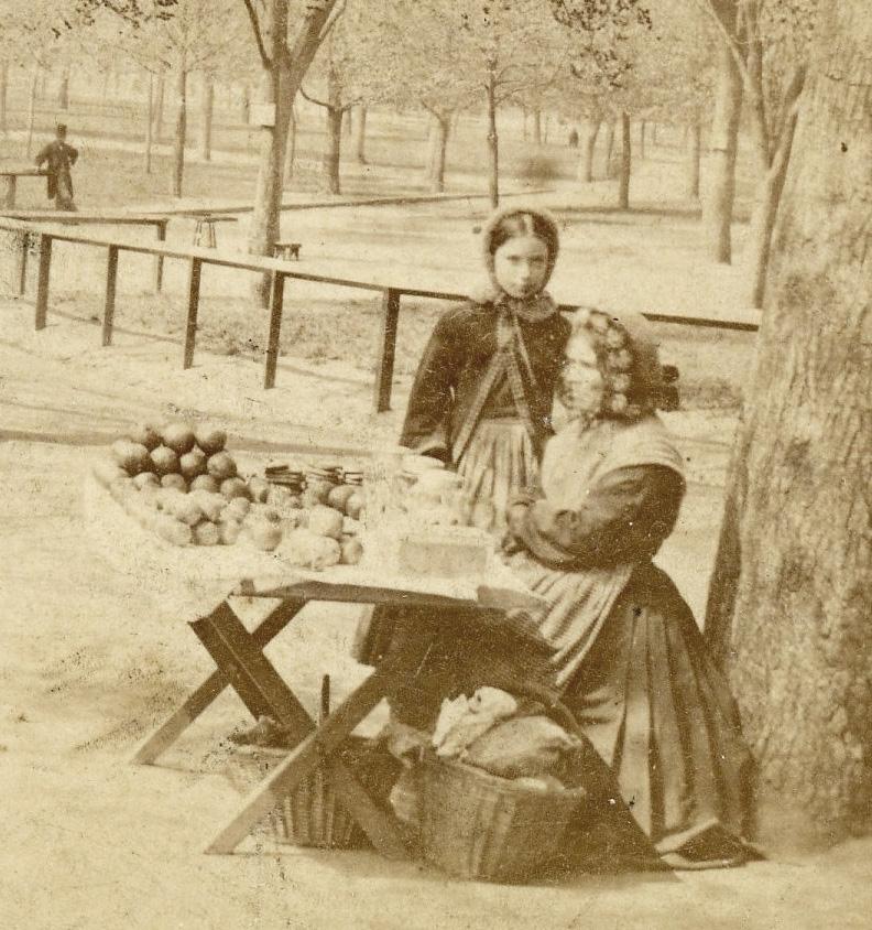 Apple seller on Boston Common by Edward L. Allen 3