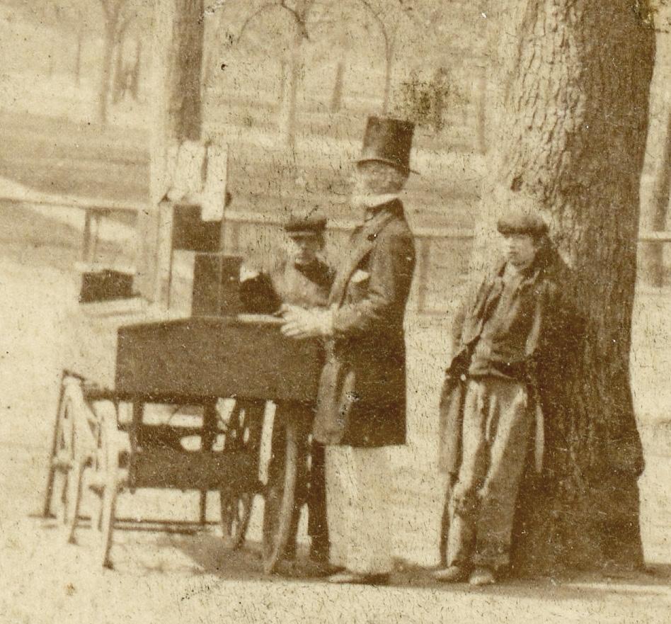 Apple seller on Boston Common by Edward L. Allen 4