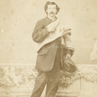 Man with blanket in Cleveland by Thomas T. Sweeny
